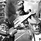 Lego monster is destroying down-town Tokyo by Kevin  Poulton - aka &#x27;Sad Old Biker&#x27;