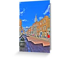 Rochester High  Street (HDR) Greeting Card