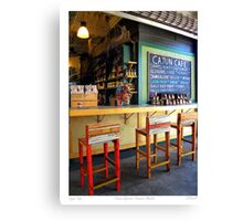 """""""Cajun Cafe"""" New Orleans French Market Canvas Print"""