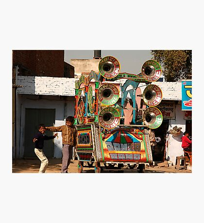 Portable PA system, Indian Style! Photographic Print