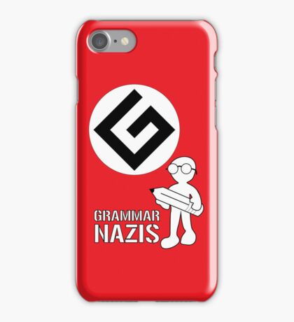 Grammar Nazi Nerd case iPhone Case/Skin