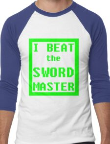 I Beat the Sword Master Men's Baseball ¾ T-Shirt