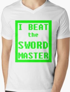 I Beat the Sword Master Mens V-Neck T-Shirt
