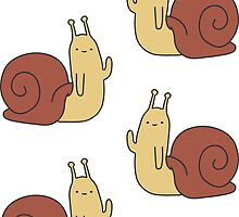 Adventure Time Snail - Small Sticker Set 2 by joshdbb