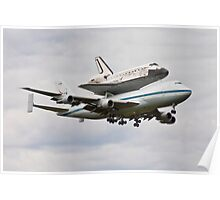 Shuttle Discovery Landing at Dulles International Airport Poster