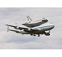 Shuttle Discovery Landing at Dulles International Airport Photographic Print