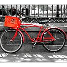 """Red Bike""  Jackson Square New Orleans by Sandra Russell"