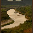 Rio Grande with Chisos Mountain in Distance by JimWork