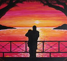 LOVERS SUNSET by ward-art-studio