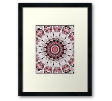 Rococo red Rosette- R104 Framed Print