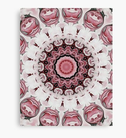 Rococo red Rosette- R104 Canvas Print