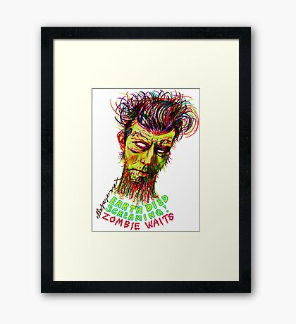 Zombie Waits Framed Print