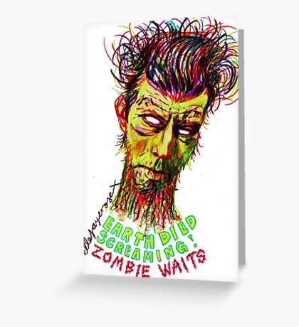 Zombie Waits Greeting Card
