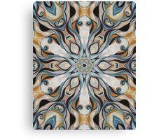 Baroque Earth tones Rosette- R107 Canvas Print