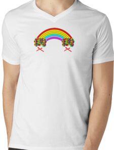 Rainbows and Lollipops Mens V-Neck T-Shirt