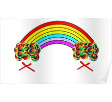 Rainbows and Lollipops Poster