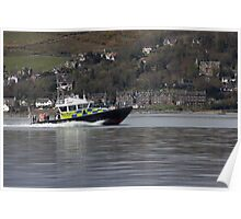 Police launch - Firth of Clyde Poster