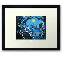 BEAUTY AND THE BIGFOOT Framed Print
