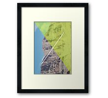 Vertical Diagonal Framed Print