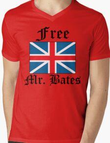 Free Mr. Bates Mens V-Neck T-Shirt