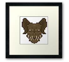 Pixel Deathclaw Framed Print