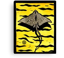 White Spotted Eagle Ray Canvas Print