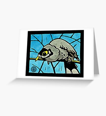 Noisy Miner Greeting Card