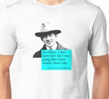 Uncertain Heisenberg at a traffic stop Unisex T-Shirt