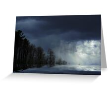 Stormy Weather ! Greeting Card
