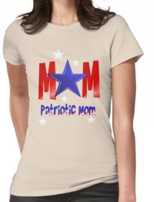 A Patriotic Blue Star Mom Womens Fitted T-Shirt