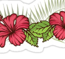 Hibiscus and Palms 1 Sticker