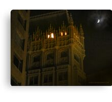 Night Time Downtown Oakland  Canvas Print