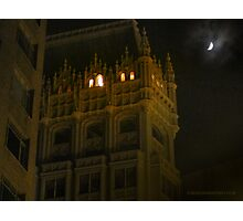 Night Time Downtown Oakland  Photographic Print