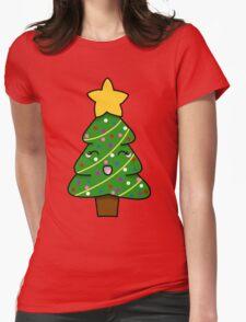 Cute xmas tree Womens Fitted T-Shirt