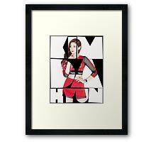 TWICE 'Kim Da-hyun' Typography Framed Print