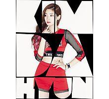TWICE 'Kim Da-hyun' Typography Photographic Print