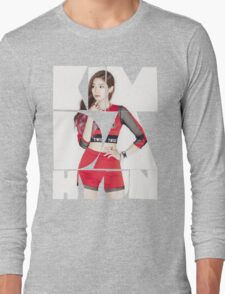TWICE 'Kim Da-hyun' Typography Long Sleeve T-Shirt