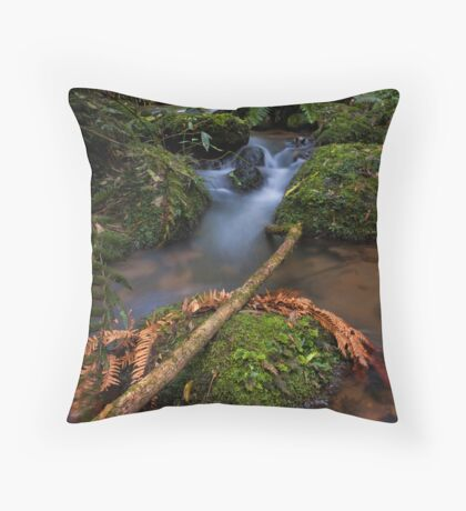 Mclarens copper frond Throw Pillow