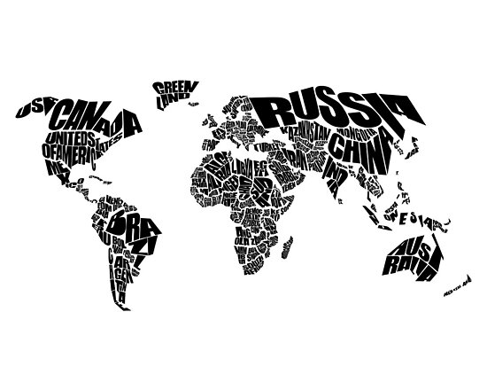 World Text Map by inkofme