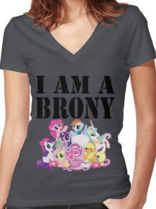 I am a Brony Women's Fitted V-Neck T-Shirt