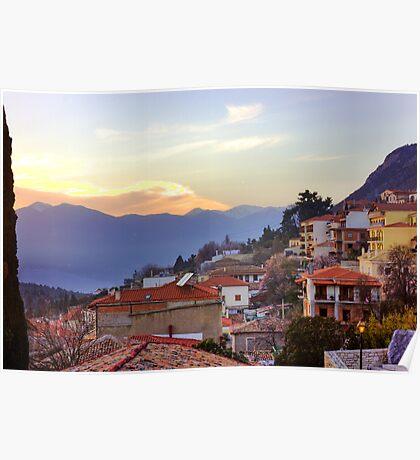 Sunshine Over Delphi Poster