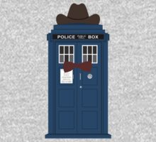 Doctor Who cowboy stetson hat TARDIS eleventh doctor  One Piece - Short Sleeve