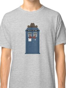 Doctor Who cowboy stetson hat TARDIS eleventh doctor  Classic T-Shirt