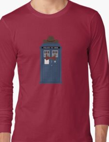 Doctor Who cowboy stetson hat TARDIS eleventh doctor  Long Sleeve T-Shirt