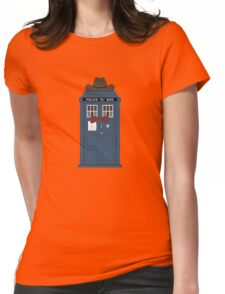 Doctor Who cowboy stetson hat TARDIS eleventh doctor  Womens Fitted T-Shirt
