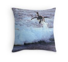 Emperor Penguin 'Flying' Home Throw Pillow