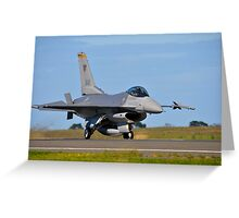 F-16C Falcon, 143 Squadron, Republic of Singapore Air Force Greeting Card