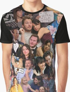 April and Andy - Parks and Recreation Graphic T-Shirt