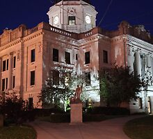 Monroe County Courthouse After Dark Bloomington, Indiana by ken2086