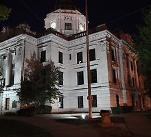 Monroe County Courthouse After Dark Bloomington, Indiana 5 by ken2086